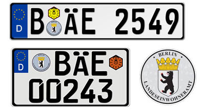 German License Plates With Your Custom Number