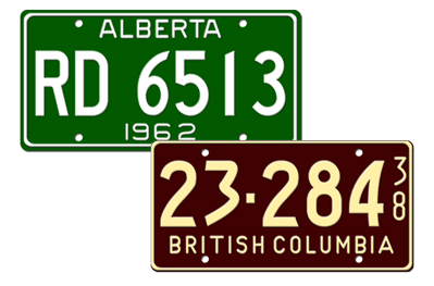 Canadian License Plates