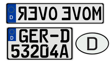 Germany Misc License Plates