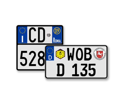Motorcycle License Plates