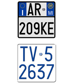 Italy Motorcycle License Plates