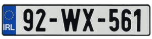 """Ireland license plate"""