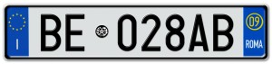 """""""Italy rear license plate"""""""