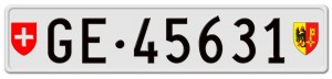 """swiss license plates"""