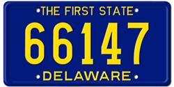 Delaware License Plates
