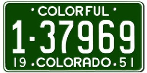 Colorado License Plates