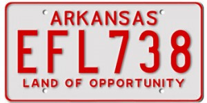 Arkansas License Plates