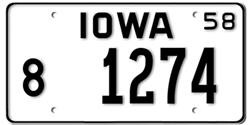 Iowa License Plates.
