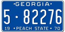 Georgia License Plates