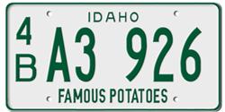 Idaho License Plates