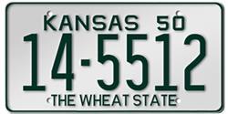 Kansas License Plates