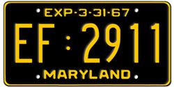 Maryland License Plates
