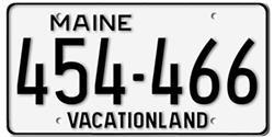 Maine License Plates