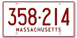 Massachusetts License Plates