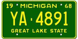 Michigan License Plates