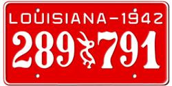 Louisiana License Plates