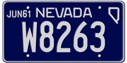 Nevada License Plates