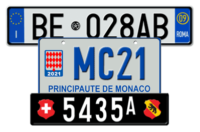 European Custom License Plates