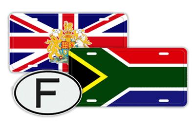 Flag Custom License Plates/Oval ID