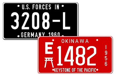 Military Custom License Plates