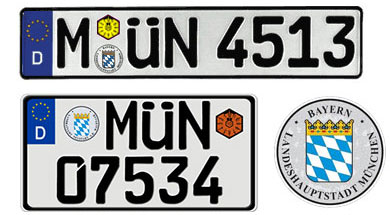 key chain license plate germany