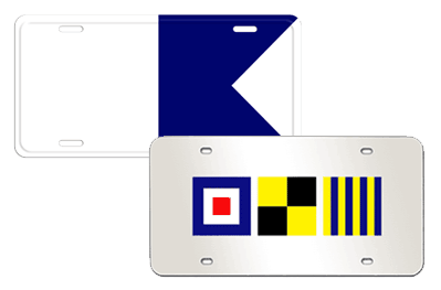 Nautical Custom License Plates