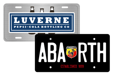 Promotional Custom License Plates