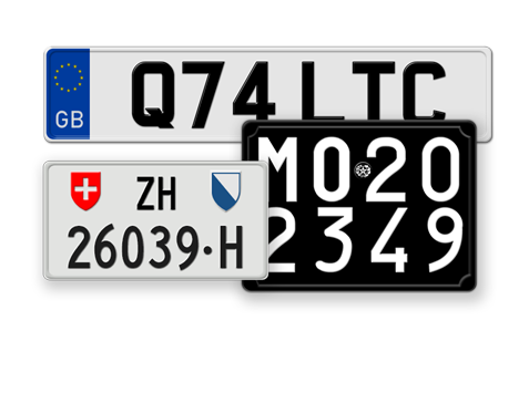 Custom Designed Authentic License Plates from around the World. Free ...