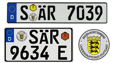 Stuttgart License Plates