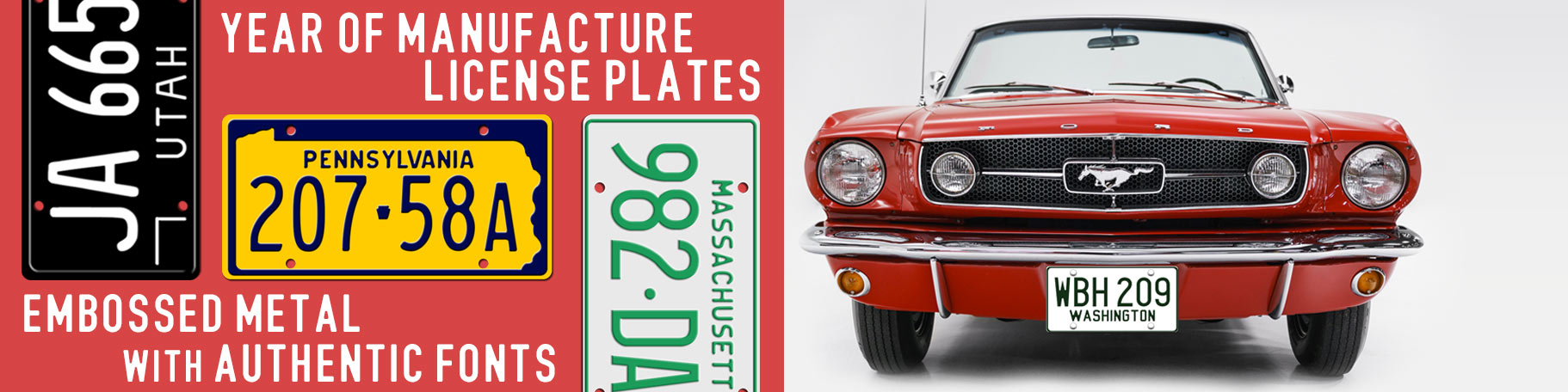 Custom license plates - personalized plates for your collector car, vintage automobile, or hot rod