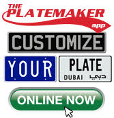Platemaker Custom Front License Plates Personalized Vanity Auto