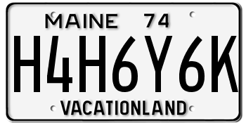 My license plates were very, very nice